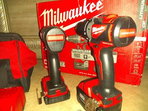 Brand New Milwaukee brushless impact and hammer drill. 2 batteries, 1 charger, bag for Sale in Terre Haute, IN