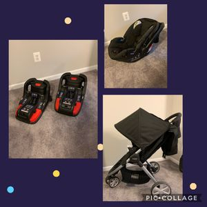 Britax car seat, britax stroller, two car bases for Sale in Frederick, MD