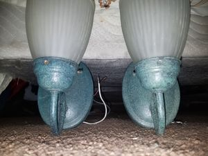 2 Green outdoor accent light fixture for Sale in Salt Lake City, UT