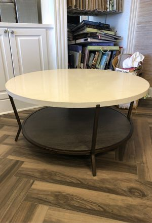 "42"" round 19"" high coffee table. for Sale in Charlotte, NC"