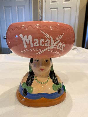 "Collectible Macayo's Mexican Kitchen Senorita Margarita Glass / Salsa Bowl - Approx 6-1/2"" tall and 6"" across the top part for Sale in Waddell, AZ"
