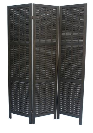 NEW, 3 Panel Room Divider / Shoji Screen, SKU# 7039-BK for Sale in Garden Grove, CA
