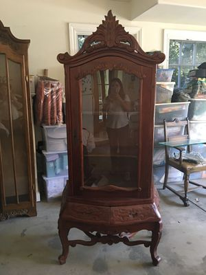 Carved glass cabinet for Sale in Santa Monica, CA