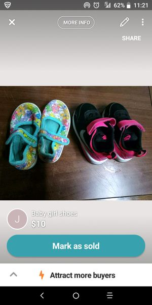 Nike shoes and baby flats with straps for Sale in San Antonio, TX