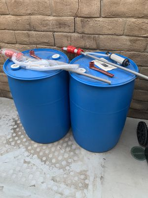 Water barrels with the pumps for Sale in Yorba Linda, CA