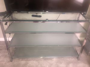 GLASS TV STAND for Sale in Fort Wayne, IN