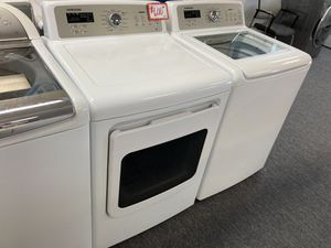 Samsung top load washer & electric dryer set in excellent working condition with 4 months warranty for Sale in Laurel, MD