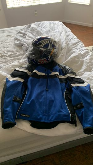 Cortech armor link 3 motorcycle riding jacket and scorpion helmet for Sale in Phoenix, AZ
