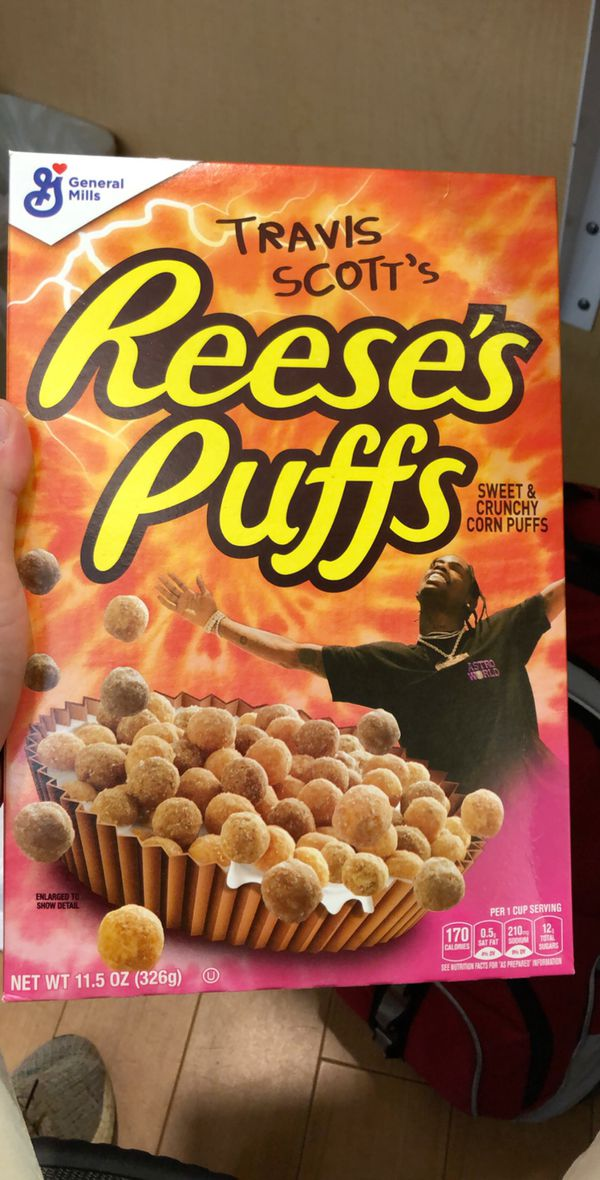 Travis Scott Reese Puffs Cereal