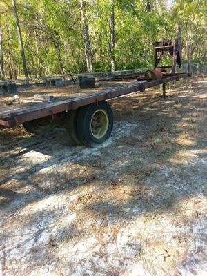 16' fifth-wheel trailer. Made from an old bus frame. Well made with a winch on the front. for Sale in O'Brien, FL