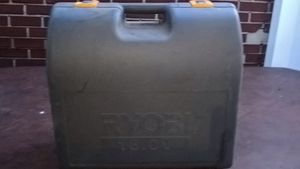 HUGE RYOBI HARD PLASTIC STORAGE CARRY POWER TOOL CASE 18V 22x20x10 broken latch for Sale in Bristol, PA