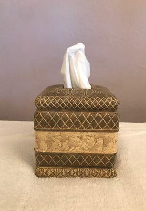 Ceramic Corinthian Square Tissue Box for Sale in San Leandro, CA