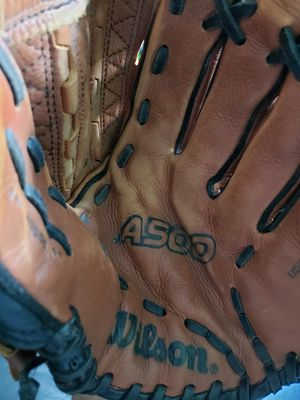 Wilson A500 Baseball Glove Series , Catch Left, Throw Right for Sale in Indianapolis, IN