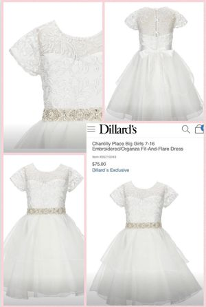 Girls White Dress (1st Communion, Wedding, Christmas, Easter Dress) for Sale in Cleveland, OH