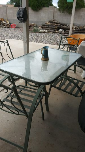Glass patio table and chairs for Sale in Albuquerque, NM