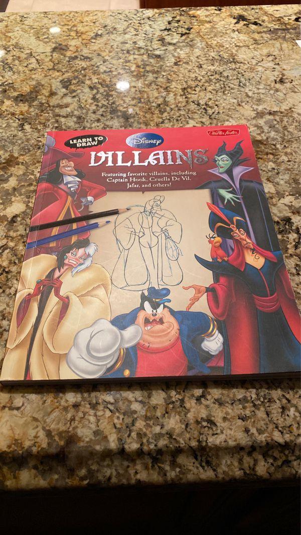 Lean how to draw Disney villains book