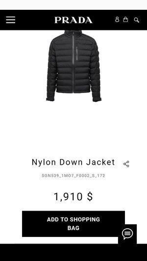 Prada jacket size 50 for Sale in Roanoke, VA