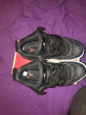 Jordan 4 Retro Laser Black Gum for Sale in Wichita, KS