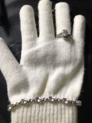 """925 sterling silver Bracelet7.5"""" and ring 8 for Sale in Aurora, IL"""