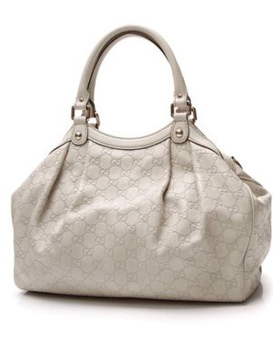Gucci Sukey White Leather Handle Bag for Sale in Woodbridge, VA
