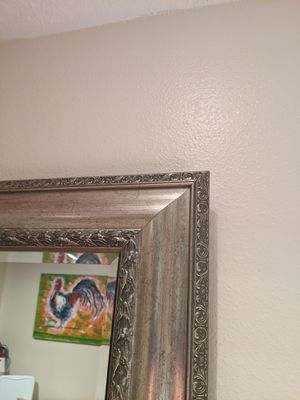 Silver mirror, 48 x35, excellent condition for Sale in Portland, OR