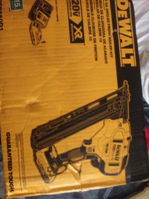 DeWalt nail gun $400 brand new still in the box for Sale in South Pasadena, FL