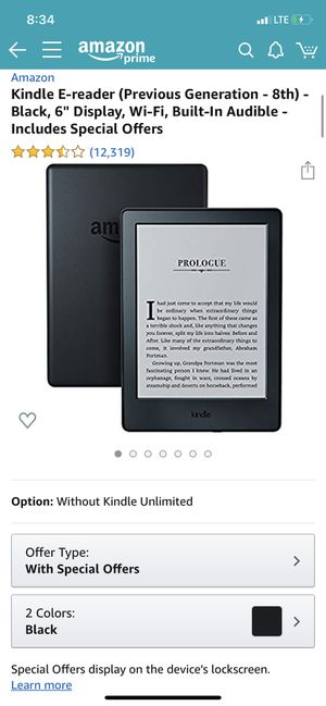 Kindle E-reader for Sale in Raleigh, NC