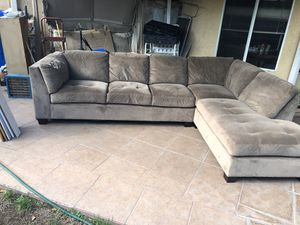 Beige Brown Sectional Couch for Sale in Montclair, CA