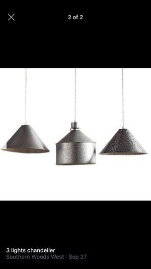 3 light chandelier for Sale in Brentwood, TN