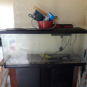 55 gal fish tank with stand and more for Sale in Avon Park, FL