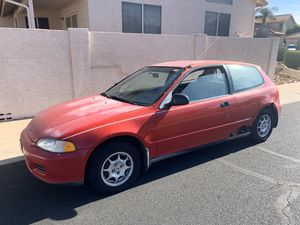 1993 civic hatchback VX runs & drives (NO TITLE) for Sale in Gilbert, AZ