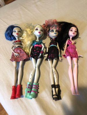 Monster high dolls, used but good condition for Sale in Staten Island, NY