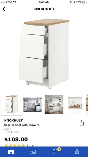 IKEA KNOXHULT CABINET WITH DRAWERS (WHITE) for Sale in Los Alamitos, CA
