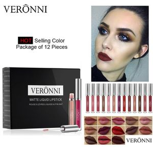 VERONNI Set 12 Pcs Waterproof Matte Liquid Lipstick Lips Paint Make up Cosmetic for Sale in Anaheim, CA