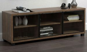 """Aged walnut TV stand (60"""") for Sale in San Leandro, CA"""
