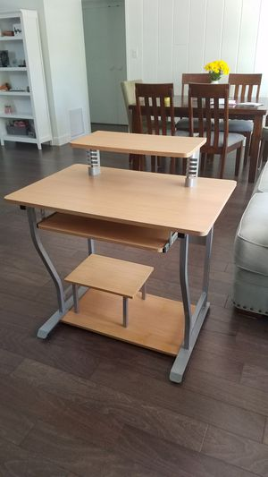 Compact Wood & Metal Desk w/ Printer Stand for Sale in Winter Park, FL