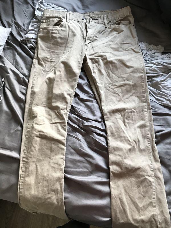 Levi's 514 kaki jeans