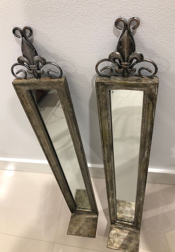 Mirrored Sconce candle holders