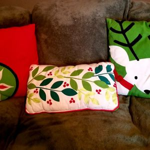 Christmas pillows x3 ($10 for all 3) for Sale in Arlington, TX