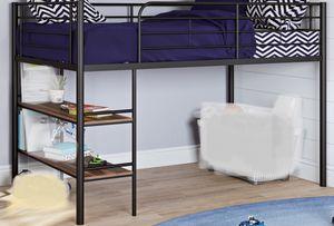New!! Loft Bed, Furniture, Bed W/Shelving,Metal Loft Bed,Junior Loft Bed-TWIN for Sale in Phoenix, AZ