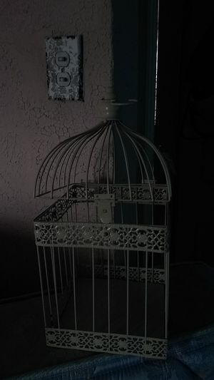 """White birdcage. For decoration.16"""" tall for Sale in Pittsburgh, PA"""