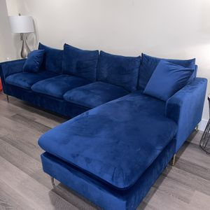 Navy Blue Sectional For Sale for Sale in Kearny, NJ