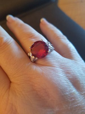Size 10,11,&12 Sterling Silver Ruby Ring for Sale in Knoxville, TN