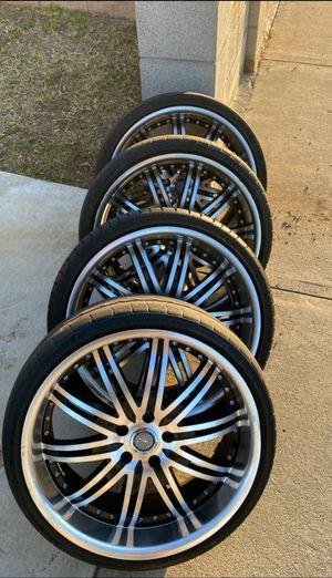 Velocity wheels four 20 x8.5 rims 225/35R20 tires offset 35 for Sale in West Covina, CA