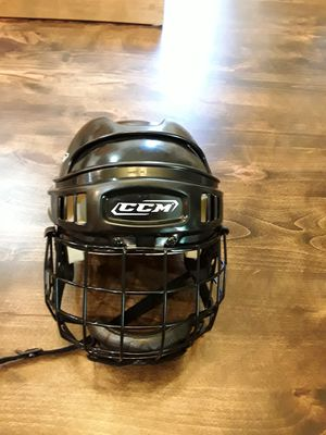 CCM 492 Hockey Black Helmet W/Matching Cage, Certified, Large for Sale in Chandler, AZ