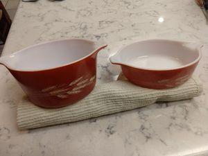 Vintage Pyrex Autumn Harvest Bowl & Casserole for Sale in Tempe, AZ