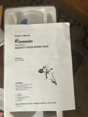 Companion Pneumatic Gravity Feed Spray Gun for Sale in Vancouver, WA