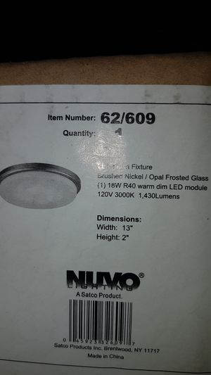 Led flush light fixture for Sale in Orlando, FL