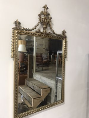Antique Gold Hand carved framed mirror for Sale in Gig Harbor, WA