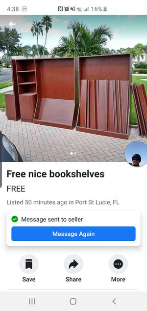 Free massive huge bookshelf! Come get it! for Sale in Port St. Lucie, FL